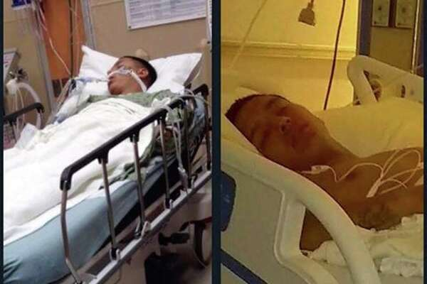Laredo teen Ozzy Ray Bryand was hospitalized after saving the lives of two men from a near-drowning in Lake Casa Blanca on Sunday afternoon.