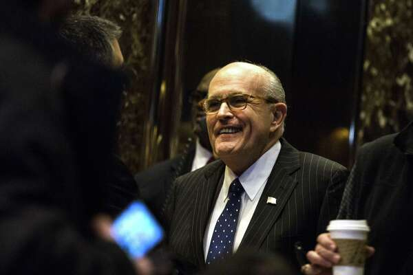 Former New York mayor Rudy Giuliani at Trump Tower in New York on Jan. 11, 2017.