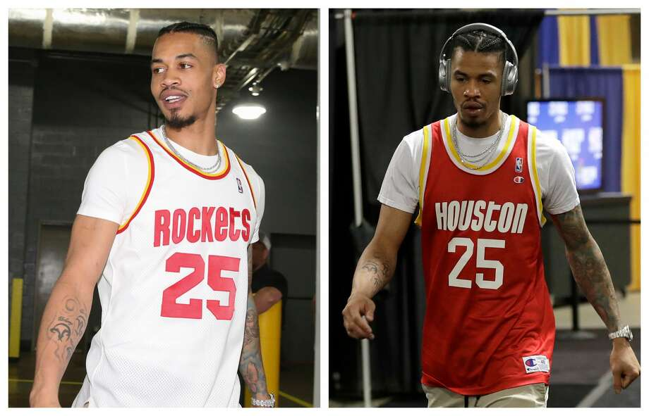 d22c0eade PHOTOS  Some of Gerald Green s favorite Houston jerseys from his personal  collection The Rockets