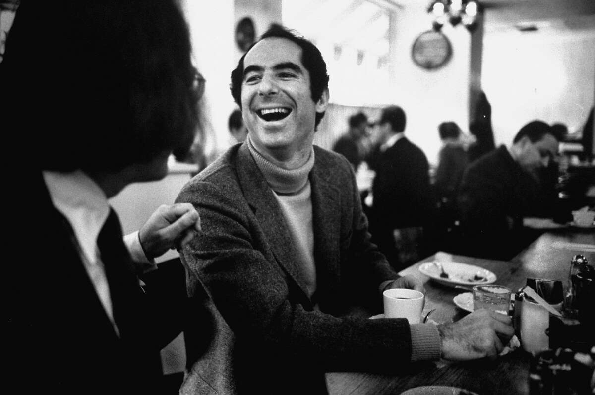Philip Roth at a lunch counter in Newark, N.J., in 1968.