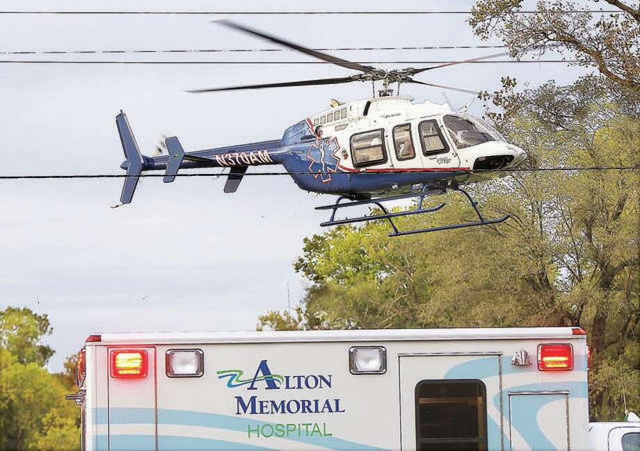 An ARCH helicopter lands near a crash scene in 2016.
