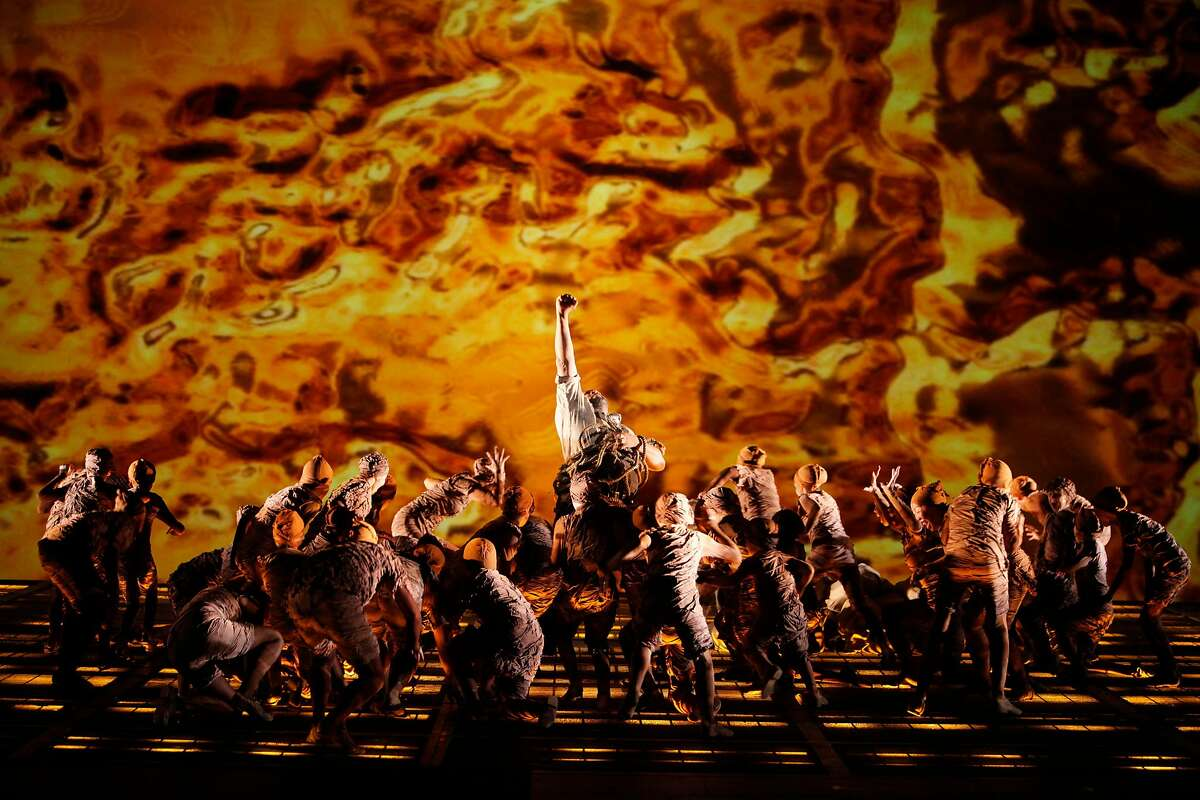 A scene from Das Rheingold, the prologue of Richard Wagner�s four-part The Ring of the Nibelung cycle, with Gordon Hawkins as Alberich in Francesca Zambello�s production at San Francisco Opera, 2011. Photo: Cory Weaver/San Francisco Opera