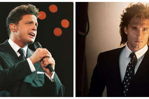 Luis Miguel, left, and Diego Boneta as the singing superstar in the Telemundo series.