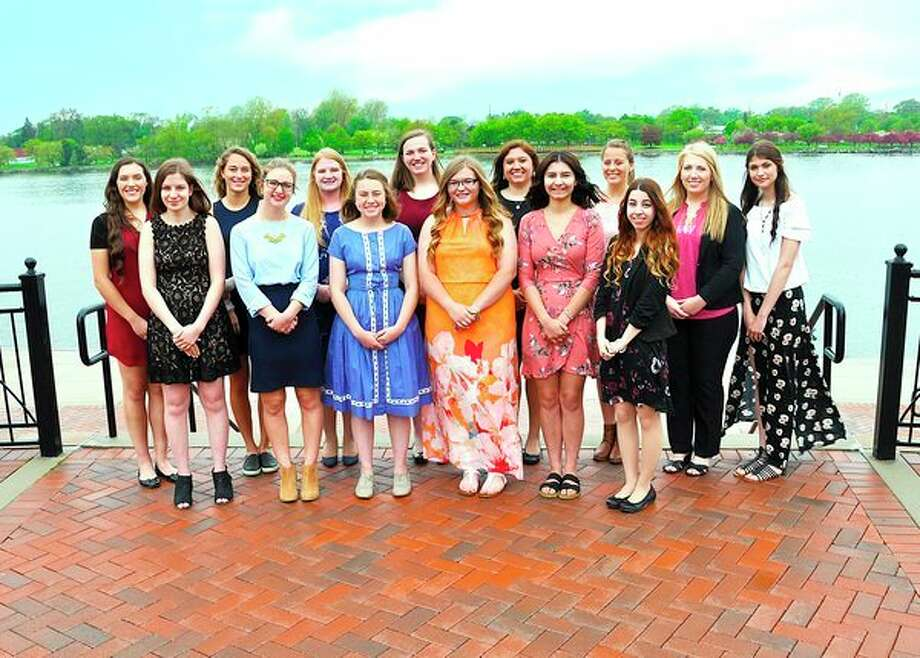 Fourteenyoung women are competing to be ambassadors for Michigan Sugar Co. They are (back rowfrom left): Rachel Phillips, Sayge Cuthrell, Jannah LaBean, Ashley Gibbs, Paige Lupcke, Montana Maher, Reaghan Scott and Morganne Narrin. (Front row): Anastasia Melnik, Amanda Neumann, Bailey Gagne, Heidi Bierlein, Ashleigh Sherd, Grace Kern. (Submitted Photo)