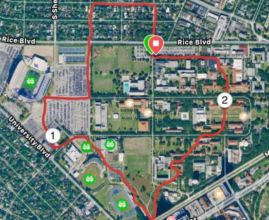 Houston Jogger Runs A Texas Shaped Running Trail Around Rice
