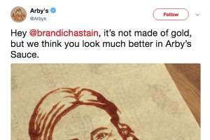 Fast food restaurant Arby's created a saucy likeness of Brandi Chastain, the legendary soccer player whose new Bay Area Sports Hall of Fame plaque drew ire after its Monday unveiling.