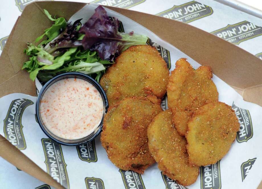 Fried Green Tomatoes with Dixie Sauce from Hoppin' John. Photo: Paul Stephen / San Antonio Express-News