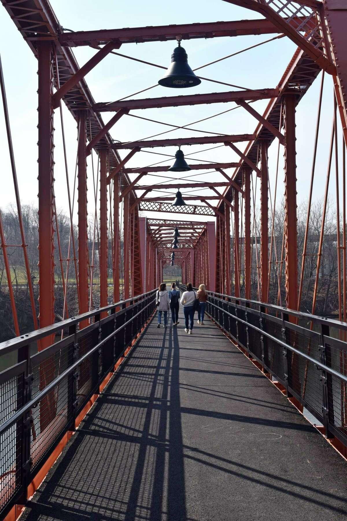 The Black Bridge that spans the Catskill Creek.