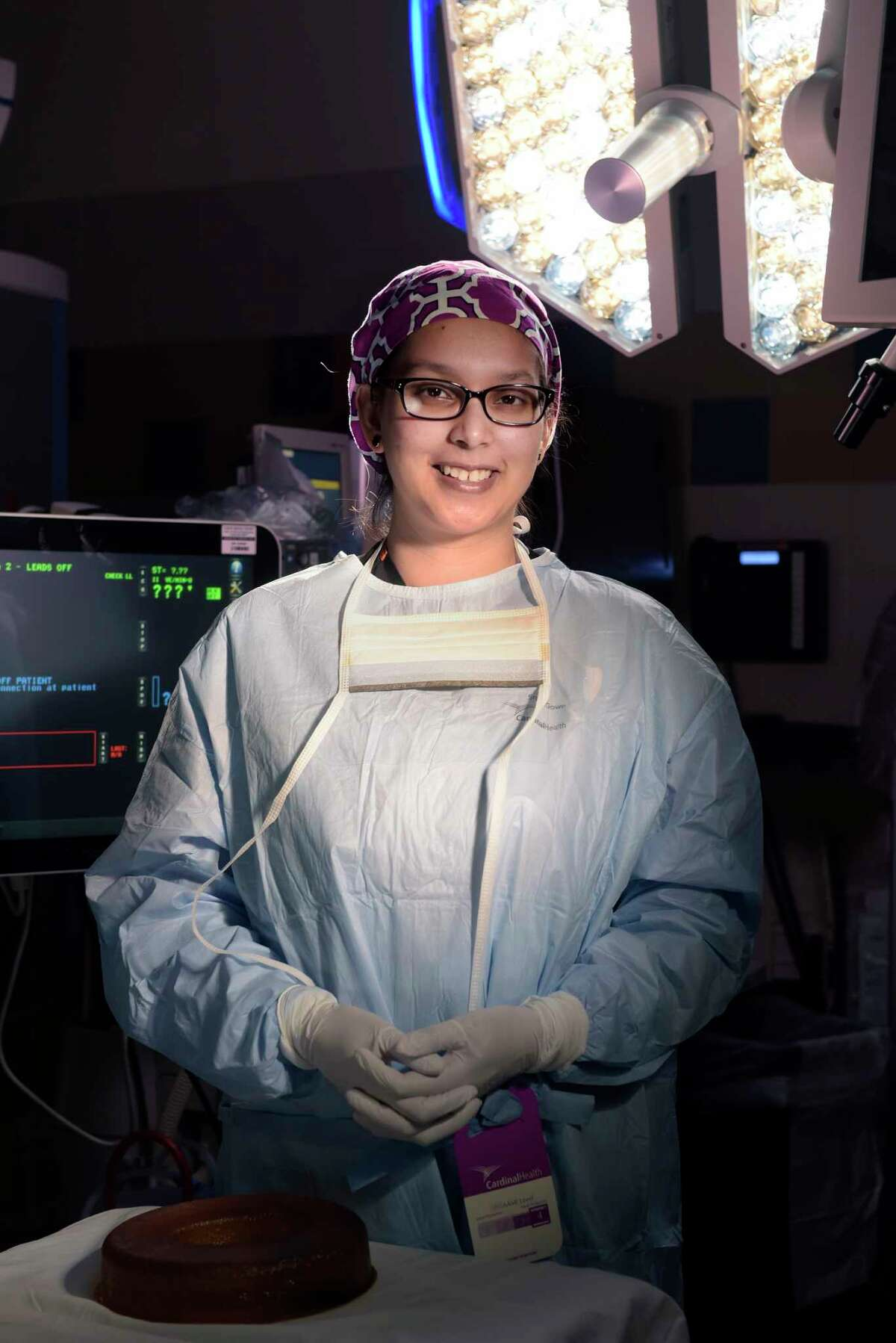 Doctor Jessica Zaman, a bariatric surgeon at Albany Medical Center, poses in an operating room at the hospital on Thursday, April 26, 2018, in Albany, N.Y. (Paul Buckowski/Times Union)