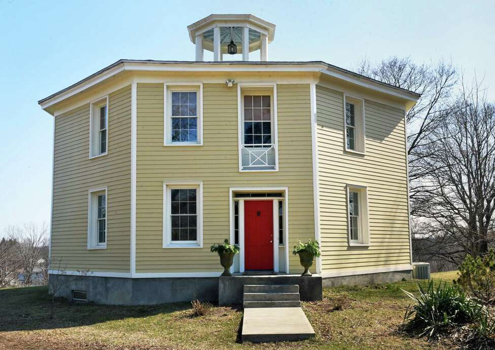 Bob Pesce's historic octagon home Wednesday April 11, 2018 in Columbiaville, NY. (John Carl D'Annibale/Times Union)