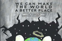 """We Can Make the World a Better Place"" art book showcases the Montessori Children's House student body's work and creativity."