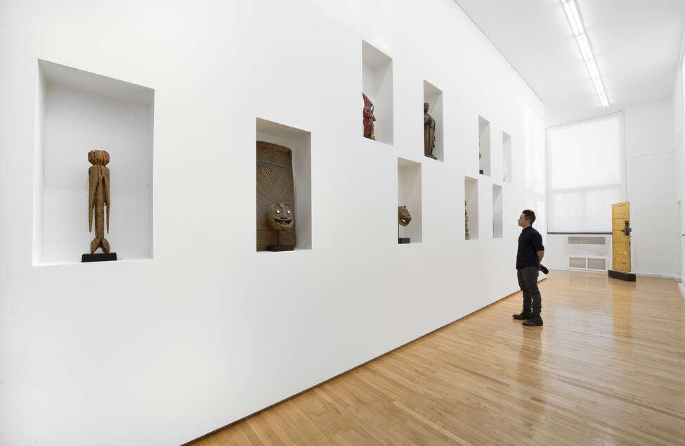 Meleko Mokgosi (installation view), The School, Kinderhook, NY, January 31 ?- April 25, 2015. c.Courtesy of Jack Shainman Gallery, New York.