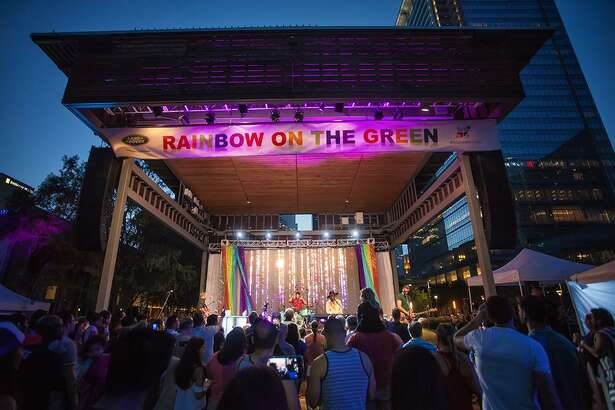 Discovery Green, the 12-acre park in the heart of downtown Houston, brings back the Land Rover Houston Central Rainbow on the Green presented by Legacy Community Health on Friday, June 22.