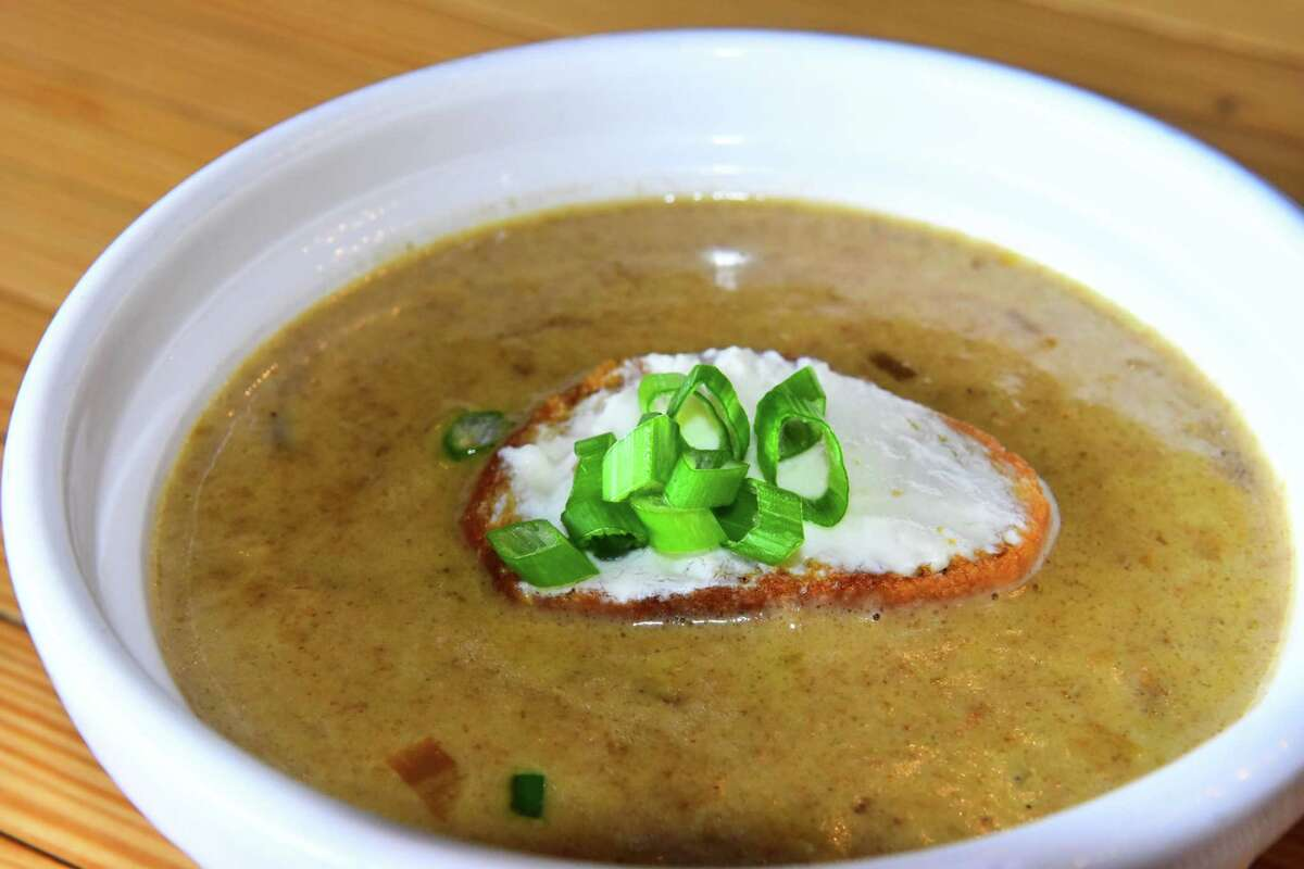 Five-onion bisque at Innovo Kitchen in Latham. (Photo by Steve Barnes/Times Union.)