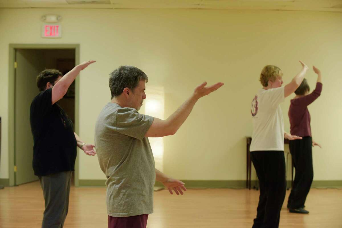 Gary Hahn, Times Union Senior Editor / Features, takes part in a tai chi class at Asian Arts Group on Thursday, May 3, 2018, in Albany, N.Y. (Paul Buckowski/Times Union)