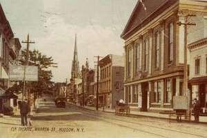 The historic Hudson Opera House on Warren Street, which is today known as Hudson Hall.