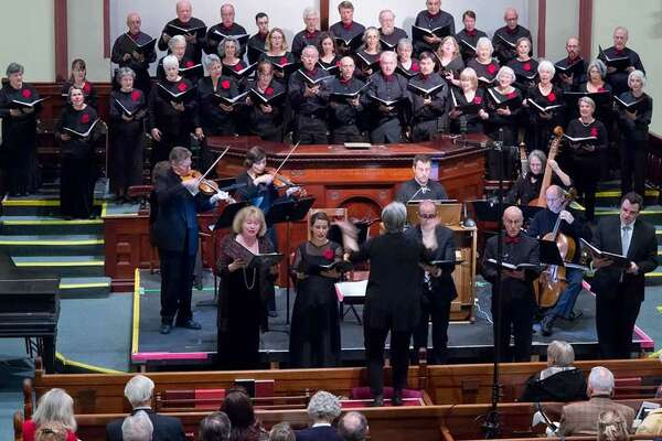 Crescendo, pictured here during a recent concert, performs June 2-3 in Lakeville and Great Barrington, MA.