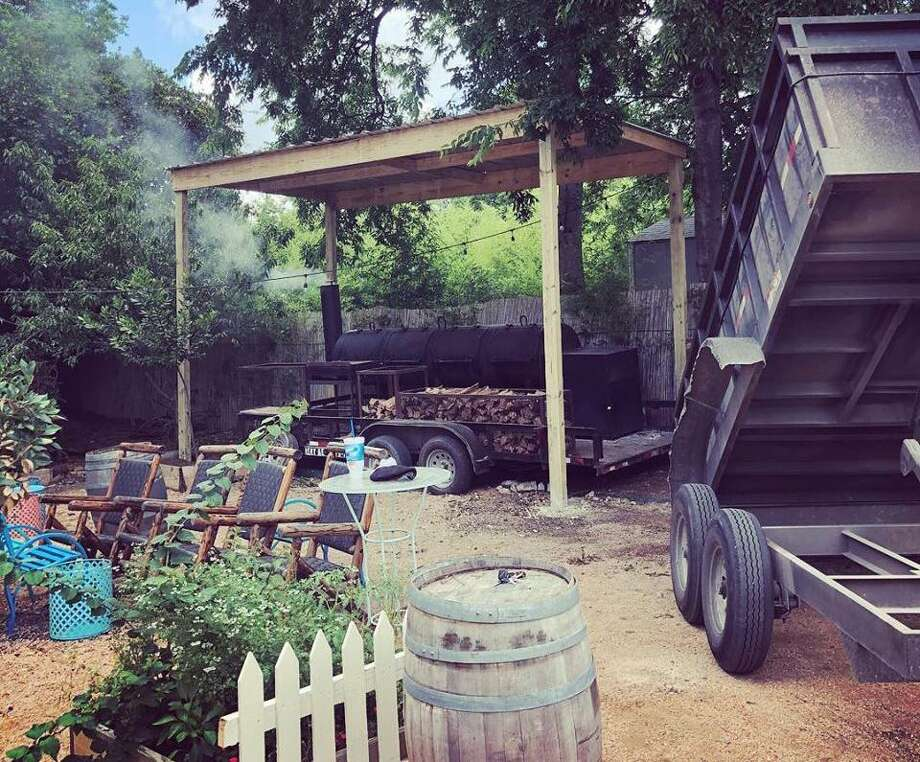 The pit area with the first new batch of smoking wood at chef Jason Dady's new Alamo BBQ Co., located at 511 E. Grayson St. inside the former space of the Bin Tapas Bar. Photo: Courtesy Of Jason Dady