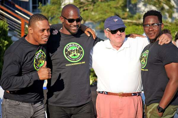 Marvin Dixon, Joel Alexander, Louis Van Leeuwen and Tyrone Mullings at a previous Jamaican Jam fundraiser at the Riverside Yacht Club. The event raises money to support the Jamaican bobsled teams.