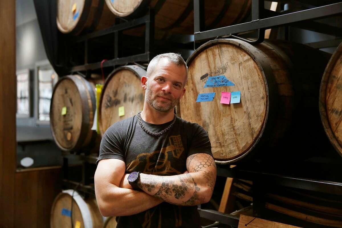 Jim Furman, co-fuonder Black Hammer Brewing, stands for a portrait at Black Hammer Brewing on Wednesday, May 23, 2018 in San Francisco, Calif.
