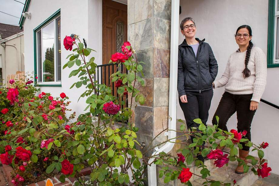 Stephanie Leveene (left) and her wife, Nicol Hammond, sold their San Jose condo with out the MLS and bought this home in Hayward. Photo: Peter DaSilva / Special To The Chronicle