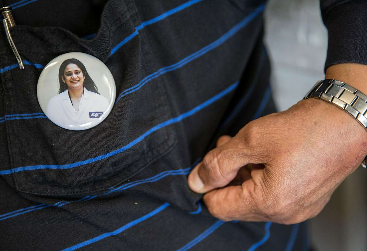 The family of Randhir Kaur, a 37-year-old woman who was murdered in 2015, speak about her life while at their business in Berkeley, Calif. Friday, May 18, 2018.