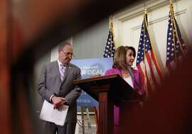 Senate Minority Leader Chuck Schumer and House Minority Leader Nancy Pelosi wrote to the Justice Department, complaining about the GOP-only meeting to view classified documents.