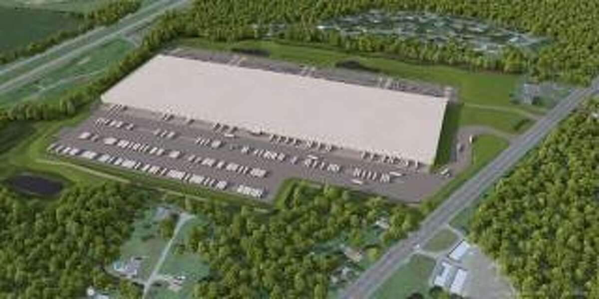 An artist's rendering of a planned warehouse facility on Route 9 in Schodack.