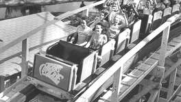 AstroWorld's Texas Cyclone rollercoaster, July 9, 1979.