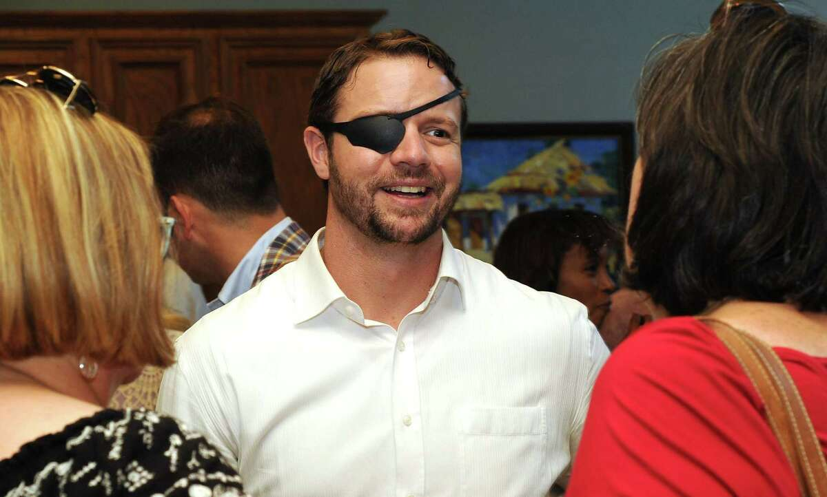 Dan Crenshaw, a former Navy SEAL running for the 2nd Congressional District, is the Republican candidate in the race to replace retiring U.S. Rep. Ted Poe.