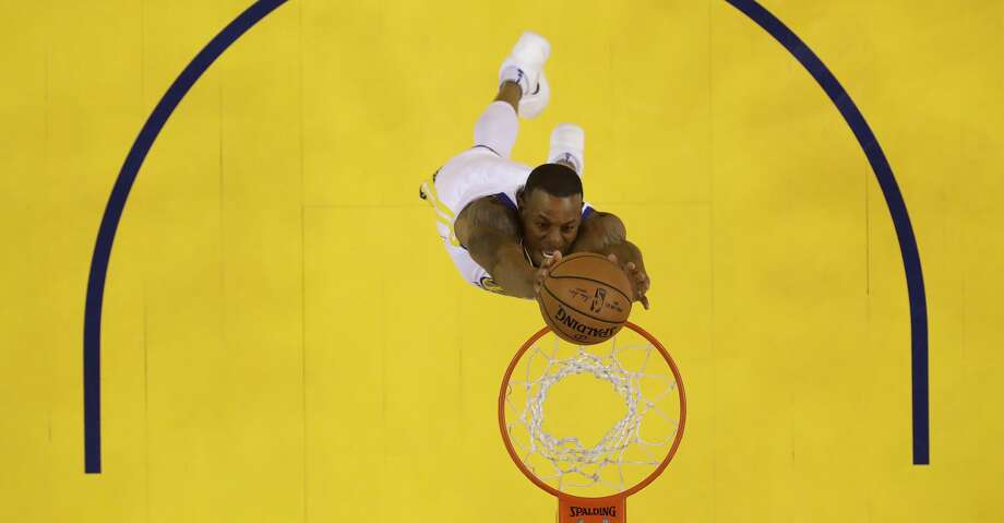 Golden State Warriors' Andre Iguodala goes up for a dunk against the Houston Rockets during the first half in Game 3 of the NBA basketball Western Conference Finals Sunday, May 20, 2018, in Oakland, Calif. (AP Photo/Marcio Jose Sanchez) Photo: Marcio Jose Sanchez/Associated Press