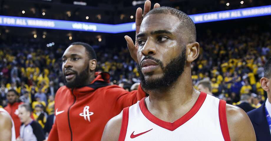 Houston Rockets guard Chris Paul (3) walks off the floor after the Rockets 95-92 win over the Golden State Warriors in Game 4 of the Western Conference Finals at Oracle Arena Tuesday, May 22, 2018 in Oakland. (Michael Ciaglo / Houston Chronicle) Photo: Michael Ciaglo/Houston Chronicle