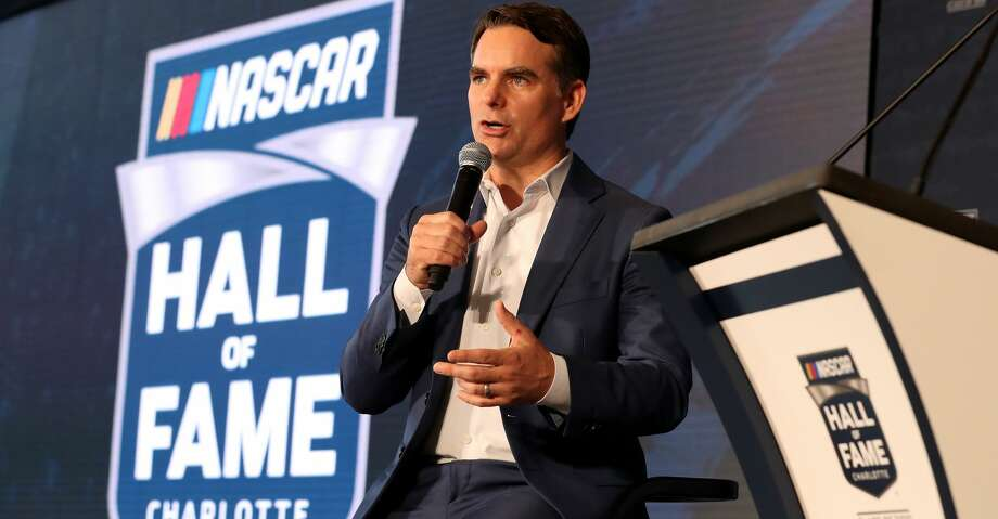 CHARLOTTE, NC - MAY 23:  Jeff Gordon is announced as a 2019 NASCAR Hall of Fame inductee during the NACAR Hall of Fame Voting Day at NASCAR Hall of Fame on May 23, 2018 in Charlotte, North Carolina.  (Photo by Streeter Lecka/Getty Images) Photo: Streeter Lecka/Getty Images
