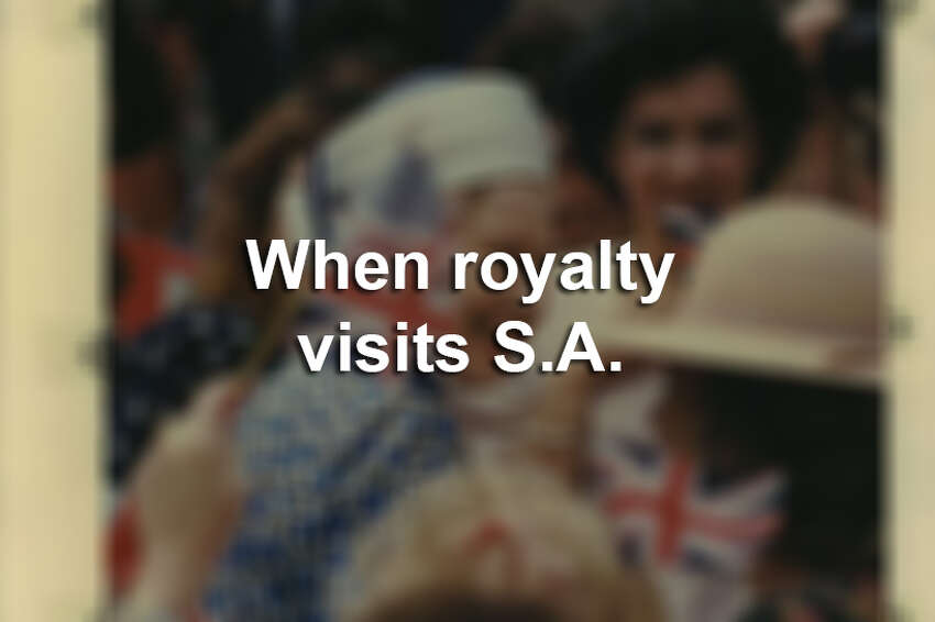 When royalty visits San Antonio.