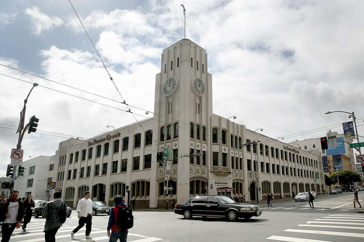 The San Francisco Chronicle building, 901 Mission St., seen from the opposite corner on Thursday, March 15, 2018, in San Francisco, Calif.