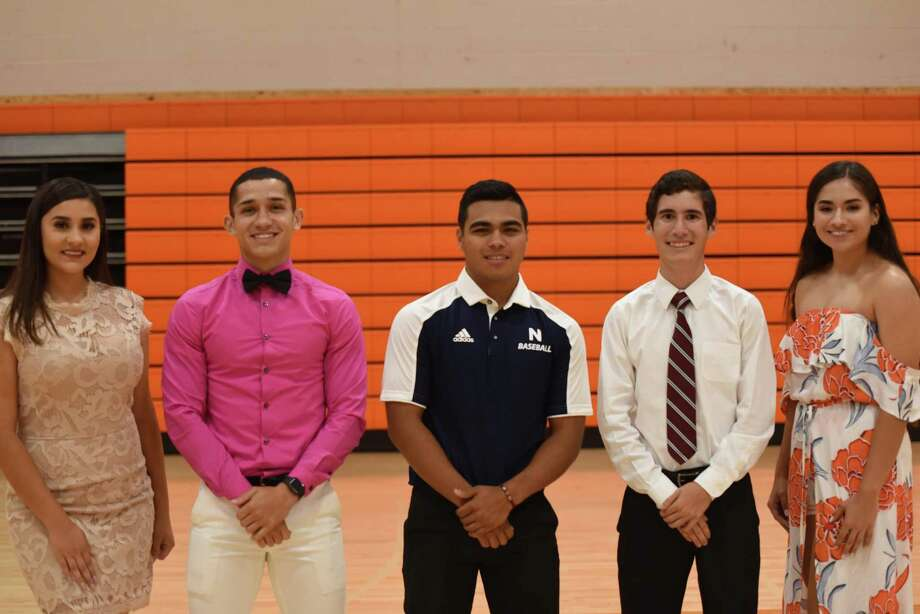 United's Daniela Castro, Alex Tirado, Fernando Benavides, Joel Alfaro and Evelyn Gonzalez signed their National Letters of Intent on Wednesday. Photo: Christian Alejandro Ocampo /Laredo Morning Times / Laredo Morning Times