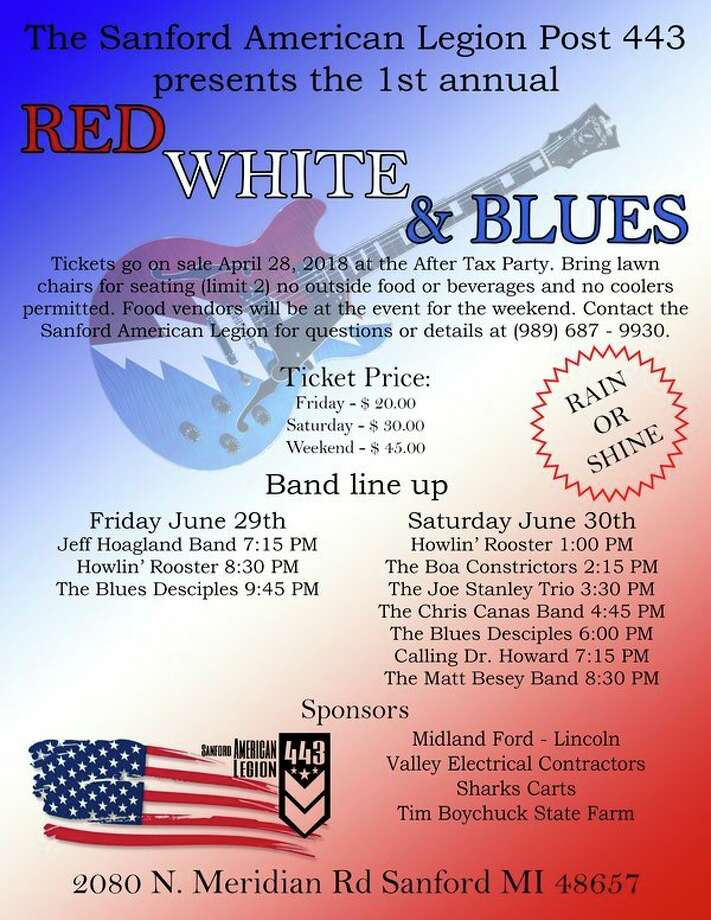 The Sanford American Legion Post 443 announces the first ever Red White and Blues Festival.