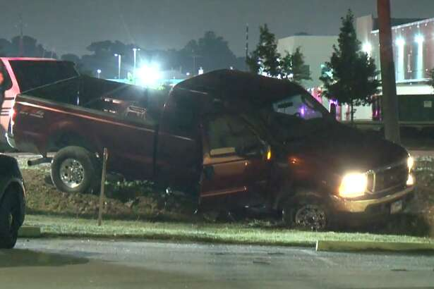 A man was arrested on Wednesday, May 23, 2018 after leading an officer on a chase through northwest Houston, police said. The chase ended near Langfield when the driver skidded into a ditch.