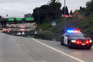 Flooding shut down ramps to Interstate 280 and Highway 87, slowing traffic around San Jose, officials said.