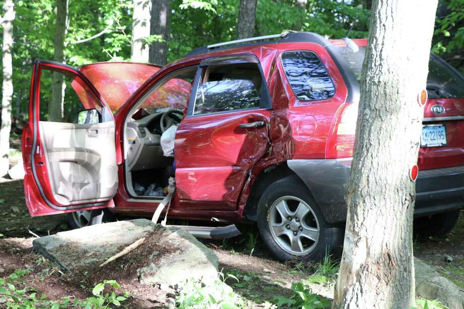 A Middlebury man escaped serious injury when the brakes on his car failed Monday during rush hour. Fairfield,CT. 5/22/18 Photo: Contributed / Contributed Photo / Fairfield Citizen