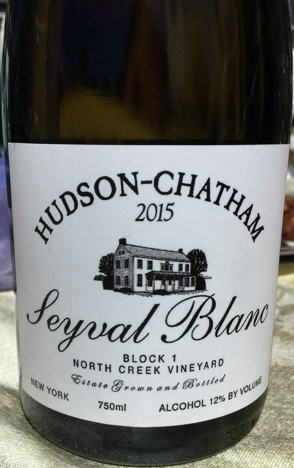 Hudson-Chatham Winery's seyval blanc. (Winery publicity photo.)
