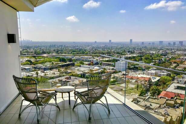 Penthouse balcony with a view south over West Hollywood at The Jeremy Hotel