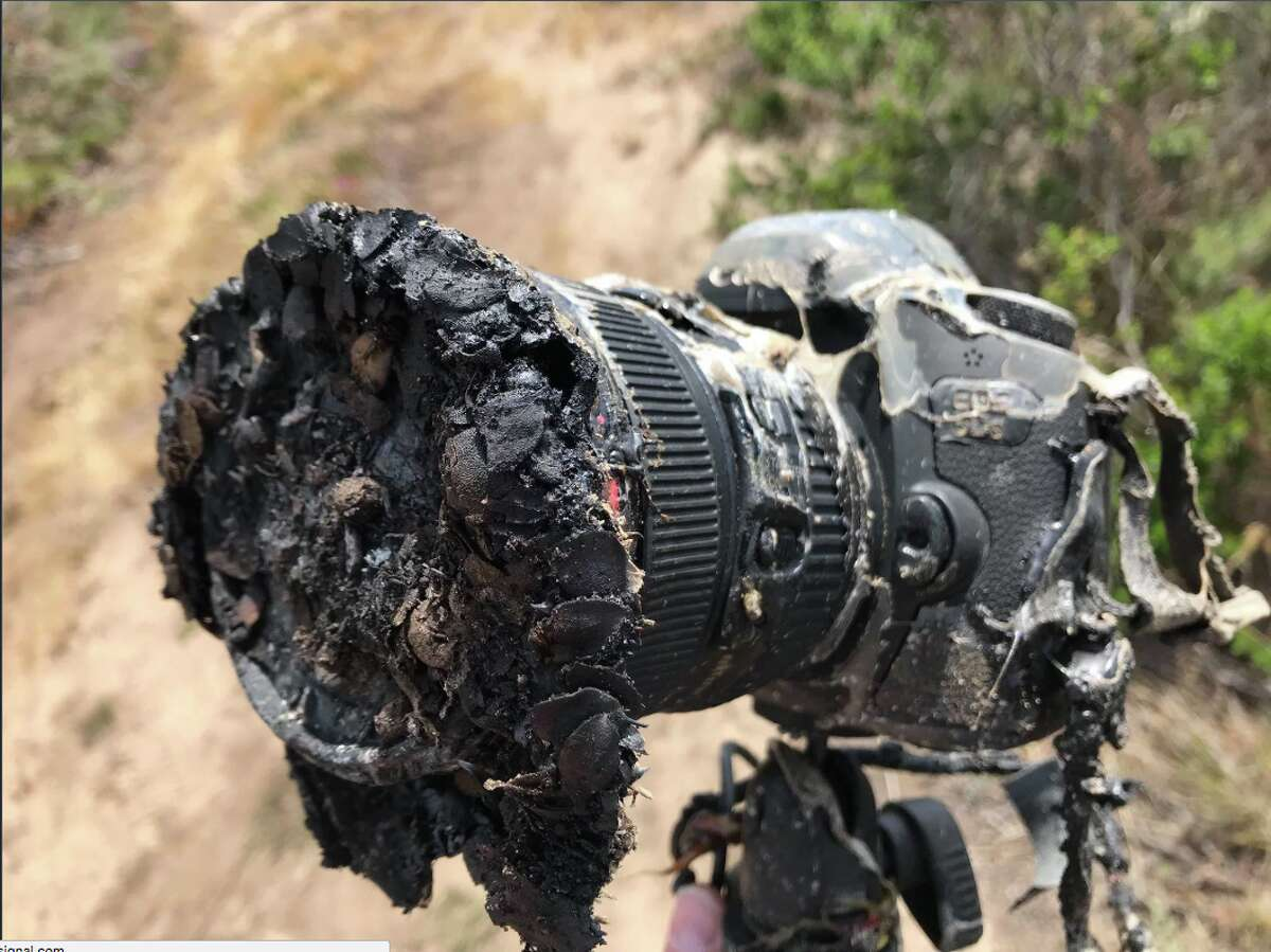 NASA photographer Bill Ingalls' camera was torched at the launch of a SpaceX Falcon 9 Tuesday at Vandenberg Air Force Base in California.