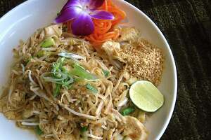 The menu includes chicken pad thai at Kin Thai & Sushi, which has opened a new location on Bulverde Road at Loop 1604 on the city's Northeast Side.