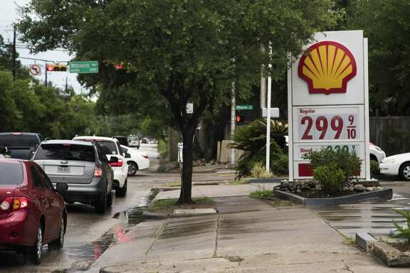 Shell gas station located on the corner of San Felipe Street and Willowick Road with unleaded fuel $3.00 a gallon, Wednesday, May 23, 2018, in Houston.