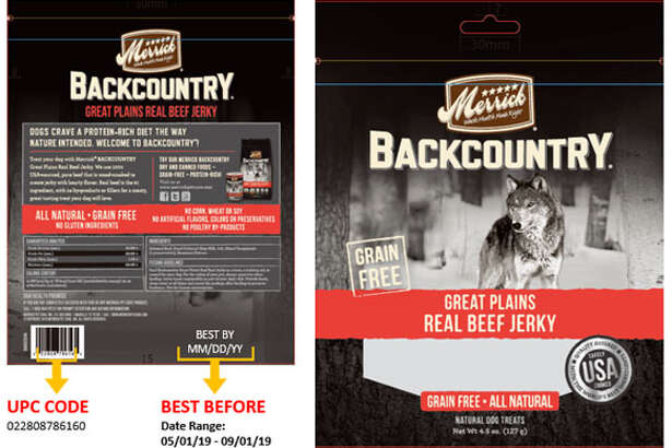 Merrick Pet Care of Amarillo, Texas is recalling select beef dog treat varieties due to the potential that they contain elevated levels of naturally-occurring beef thyroid hormone. Symptoms of high beef thyroid hormone include thirst, weight loss, increased heart rate and restlessness.