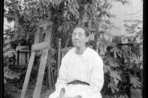 """Date:  August 1936   """"Annie Moore Schwein. Born a slave in south Texas. Corpus Christi."""""""
