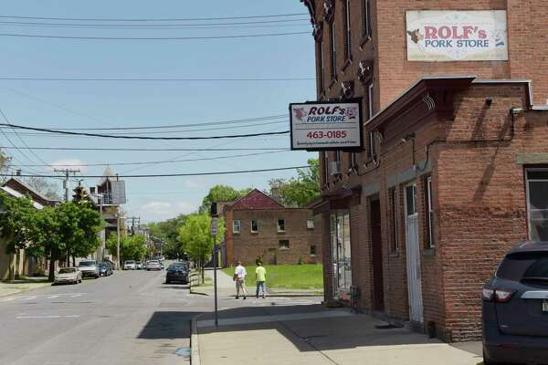 A view looking east on Lexington Ave. near RolfÕs Pork Store on Wednesday, May 23, 2018, in Albany, N.Y.   (Paul Buckowski/Times Union)
