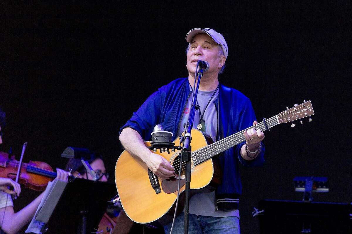 Paul Simon performs with yMusic on June 17, 2017 during the Eaux Claires Music Festival in Eau Claire, Wis. (Daniel DeSlover/Zuma Press/TNS)