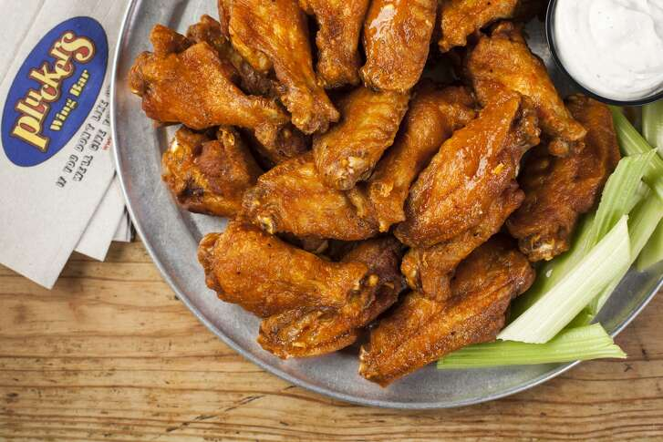 The 20-piece wing plate at Pluckers Wing Bar.